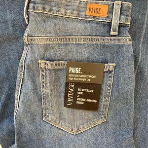 PAIGE High Waisted Straight Jeans Sz 29